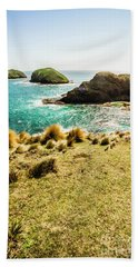 Captivating Coastal Cliff Beach Towel
