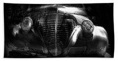 Car Art 1939 In A Bubble Bw Beach Towel