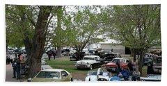 Car Show In Deming N M Beach Sheet by Jack Pumphrey