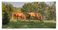 1006 - Caramel Horses I Beach Towel