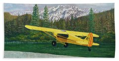 Carbon Cub Riverbank Takeoff Beach Towel