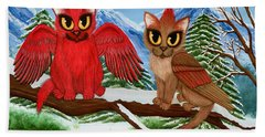 Cardinal Cats Beach Towel