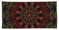 Cardinal Kaleidoscope Beach Sheet by Judy Wolinsky