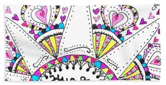 Caregiver Crown Of Hearts Beach Sheet