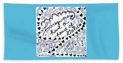Caregiver Hearts Beach Towel