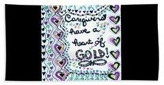 Caregiver Joy Beach Towel by Carole Brecht