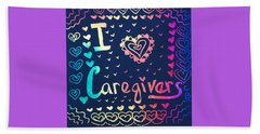 Caregiver Rainbow Beach Towel