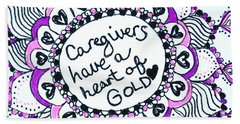 Caregiver Sun Beach Sheet by Carole Brecht