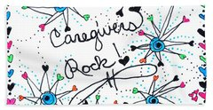 Caregivers Rock Beach Towel by Carole Brecht
