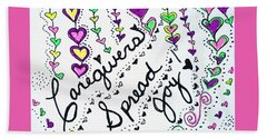 Caregivers Spread Joy Beach Sheet by Carole Brecht
