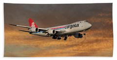 Cargolux Boeing 747-8r7 3 Beach Towel