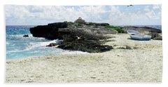 Caribbean Beach Scenic Beach Towel by Rosalie Scanlon