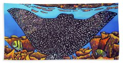 Caribbean Eagle Ray Beach Towel