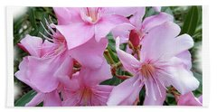 Beach Towel featuring the photograph Caribbean Oleander by Marie Hicks