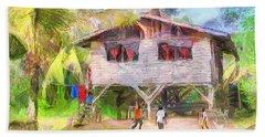 Caribbean Scenes - Country House Beach Towel