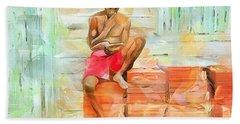 Caribbean Scenes - Diamond In The Rough Beach Towel