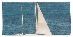 Beach Towel featuring the photograph Caribbean Scooner by Gary Slawsky