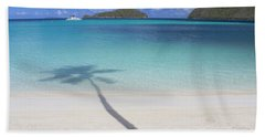 Caribbean Shadow Beach Towel