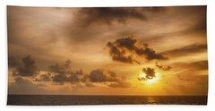 Caribbean Sunrise Beach Towel