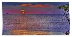 Caribbean Sunset Beach Towel