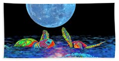 Caribbean Tropical Night Beach Sheet
