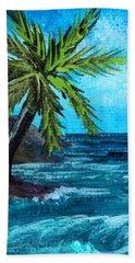 Beach Sheet featuring the painting Caribbean Vacation #1 by Anastasiya Malakhova
