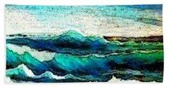 Caribbean Waves Beach Sheet by Holly Martinson