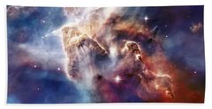 Carina Nebula Pillar Beach Towel