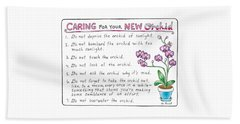 Caring For Your New Orchid Beach Towel
