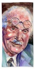 Carl Gustav Jung Portrait Beach Towel