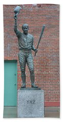 Carl Yastrzemski - Fenway Park Beach Sheet by Bill Cannon