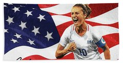 Carli Lloyd Beach Towel by Taylan Apukovska