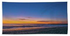 Carlsbad Jetty Sunset Beach Towel
