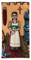 Carmelitas Kitchen Art Beach Sheet