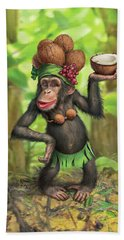 Carmen Coconuts Beach Towel by Mark Fredrickson