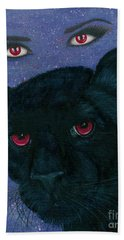 Carmilla - Black Panther Vampire Beach Towel