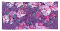 Beach Towel featuring the digital art Carnation Inspired Art by Barbara Tristan