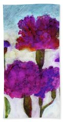 Carnations Beach Towel by Julie Maas