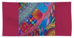 Beach Towel featuring the drawing Carnival by Megan Walsh