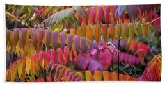 Beach Towel featuring the photograph Carnival Of Autumn Color by Bill Pevlor