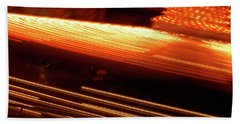 Carnival Ride Lights Beach Towel