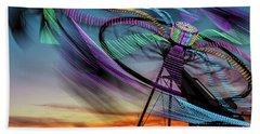 Carnival Ride Sunset Beach Towel