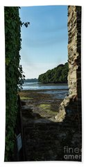 Beach Towel featuring the photograph Photographs Of Cornwall Carnon Mine Window by Brian Roscorla