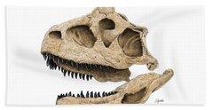Carnotaurus Skull Beach Towel