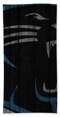 Caroilina Panthers Wood Fence Beach Towel