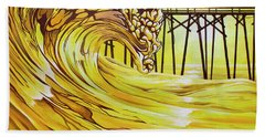 Carolina Beach North End Pier Beach Towel