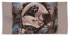 Carolina Panthers Football Helmet Painting Wall Art Beach Sheet by Gray Artus