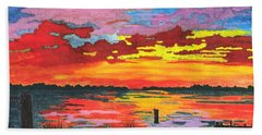 Carolina Sunset Beach Towel