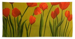 Carolina Tulips Beach Towel