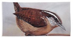 Carolina Wren Beach Towel